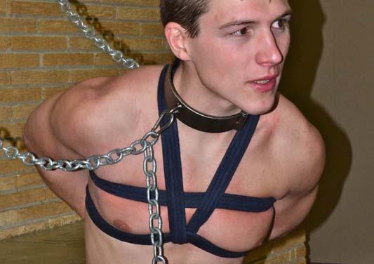 Crucified boys bondage gay aiden is weak as